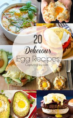 20 delicious egg recipes! From deviled eggs to egg salad and everything in between! Capturing-Joy.com
