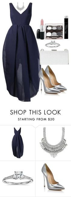 """Untitled #3433"" by natalyasidunova ❤ liked on Polyvore featuring Carven, Charlotte Russe, Blue Nile, Casadei, MAC Cosmetics and French Connection"