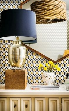 david+hicks+hexagon+wallpaper+yellow+gray+brettVdesign
