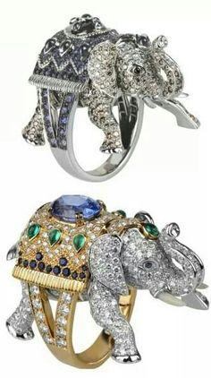 Boucheron Rings Funky Jewelry, Modern Jewelry, Jewelry Gifts, Jewelry Accessories, Elephant Jewelry, Animal Jewelry, Elephant Ring, Diamond Jewelry, Jewelery