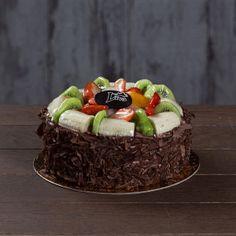 çikolatalı meyveli doğum günü pastası, çikolatalı meyveli pasta, Ankara çikolatalı meyveli pasta siparişi, liva pastanesi