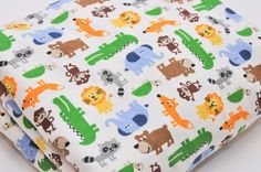 Per 1//4 Metre Jungly Childrens Fabric Lion White