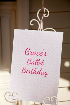 Gorgeous Ballerina themed party details