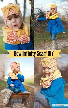 Free infinity scarf tutorial for girls. Sew a cute knit fabric infinity scarf for girls
