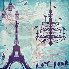 Paris Shower Curtain on CafePress.com