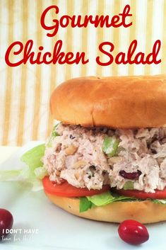 If your looking for a new spin on the old chicken salad, boy do I have a recipe for you! Not only is this gourmet chicken salad recipe super easy to make, it's also amazingly cheap and can be made to include practically anything you want.