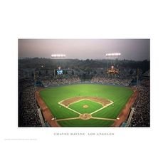 ''Chavez Ravine Los Angeles'' by Ira Rosen Stadiums Art Print