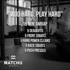 Crossfit Leg Workout, Crossfit Barbell, Crossfit Workouts At Home, Crossfit Motivation, Amrap Workout, Workout Plans, Workout Routines, Tabata, Cross Training
