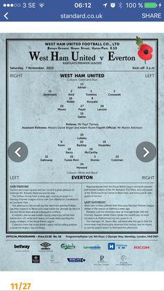 West Ham United Fc, Green Street, Everton