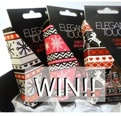 Enter my special Christmas giveaway to win some festive Elegant Touch false nails
