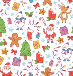Christmas pattern on white vector by stolenpencil on VectorStock®