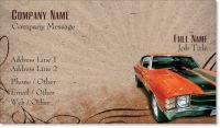 automobile car Standard Business Cards