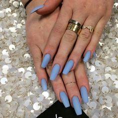 Kylie Jenner's matte blue nails