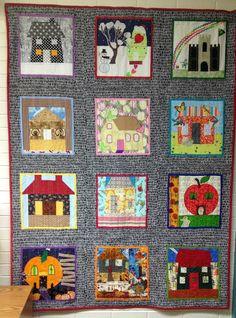 ❤ =^..^= ❤  Calendar of Houses Bee Quilt