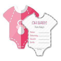 Babyparty Deko Baby Shower Spiel-Set 8 Stück Babybody - Mia-Felice von MiaFeliceDecorations auf Etsy https://www.etsy.com/de/listing/469676981/babyparty-deko-baby-shower-spiel-set-8