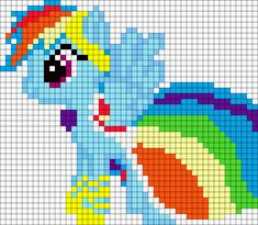 Gala Rainbow Dash My Little Pony bead pattern