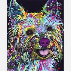 This Yorkie Yorkshire Terrier Dean Russo Metal Sign features a colorful, pop art depiction of the little dog. Yorkies, Yorkie Dogs, Chihuahua, Framed Wall Art, Canvas Wall Art, Canvas Prints, Art Prints, Animal Prints, Art Pop