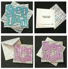 Step Mum / Step Dad Variations, Birthday Card. Approx 6 inch square with matching envelope. by HandmadeCardsnGifts on Etsy