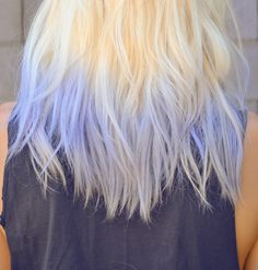 gorgeous blond blue violet hair