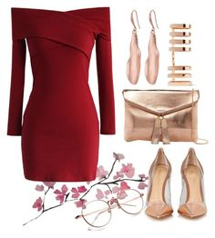 """""""Untitled #105"""" by eslem-molla ❤ liked on Polyvore featuring Chicwish, Gianvito Rossi, Urban Expressions, Robert Lee Morris and Repossi"""