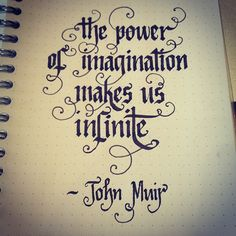 The power of imagination makes is infinite - John Muir