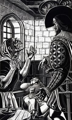 THE NOBLEMAN SAW LUCIA HUDDLED STILL AND QUIET IN HER CORNER by ERIC FRASER