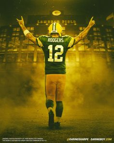 walking into work tomorrow like. 🤣 with the now in the rear-view window, wanted to deliver for the *many* packers fans asking for a new piece. this guy is so special. can't wait to see what a healthy 2019 brings for no. Aaron Rodgers House, Aaron Rodgers Family, Aaron Rodgers Jersey, Arron Rodgers, Green Bay Packers Wallpaper, Green Bay Packers Fans, Nfl Green Bay, Aaron Rodgers Mustache, Aaron Rodgers Shirtless