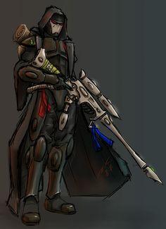 Eldar ranger color by on DeviantArt Fantasy Art Landscapes, Fantasy Artwork, Character Inspiration, Character Art, Warhammer Eldar, Nightwing Cosplay, Dark Eldar, Alien Concept, Star Wars Rpg