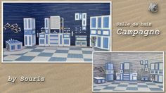 Sims 4 CC's - The Best: Campagne Bathroom Set by Souris