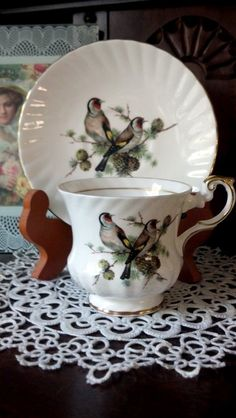 Bird Teacup and Saucer!.