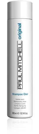 Paul Mitchell Shampoo One.  Any hair type.  Use every 3-4 washings to wash away product build-up.