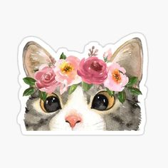 Stickers Kawaii, Preppy Stickers, Cute Laptop Stickers, Anime Stickers, Cat Stickers, Printable Stickers, Journal Stickers, Scrapbook Stickers, Images Noêl Vintages