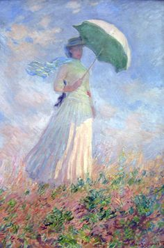 Woman With a Parasol Turned Toward the Right , 1886 , Claude Monet (1840-1926/French) , Musee d'Orsay, Paris Poster Print (18 x 24). Description from shop.com. I searched for this on bing.com/images