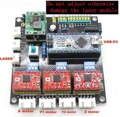 [Visit to Buy] GRBL mini laser engraving machine laser CNC Dashboard control board USB CNC 3 axis stepper motor controller Arduino Laser, Laser Cnc, Arduino Cnc, Diy Cnc Router, 3d Cnc, Hobby Desk, Hobby Cnc, Cnc Projects, Arduino Projects