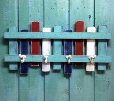 Beach Fence Hook Rack Coat Rack Beach House Decor by CastawaysHall