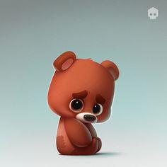 486 отметок «Нравится», 12 комментариев — 2d artist, Digital Art, (@dmnart) в Instagram: «Stickers for U.S. messenger  kik. Available soon... max repost #lonely #imissu #cute #bear…»