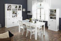 Esszimmer - Set Charlotte I 6tlg. In reinem Weiß erstrahlt dieses Esszimmer der Möbelkollektion Charlotte. Es lädt dazu ein, sich an den Tisch zu setzen, die Düfte der Küche zu...