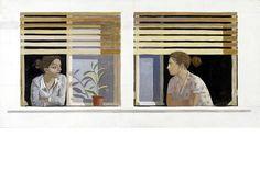 Κώστας Παπανικολάου   Δύο Φίλοι (2000) Art Story, Greek Art, Polaroid Film, Decor, Decoration, Decorating, Deco
