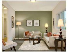 Living Room White, New Living Room, Living Room Modern, Living Room Decor, Small Living, Green Living Room Walls, Living Room Ideas Sage Green, Living Room Contemporary, Contemporary Fireplaces