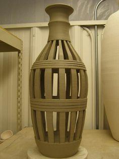 Pierced ceramic vase - 2011