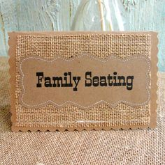 FAMILY SEATING Wedding Table Cards SET of 3 by LazyCaterpillar, $12.00