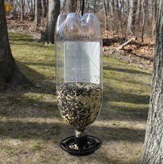 Upcycled bird feeder!