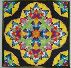 Kool Kaleidoscope quilt for Claire