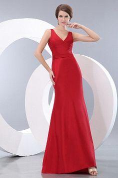 Elegant A-Line V-Neck Evening Gowns - Order Link: http://www.thebridalgowns.com/elegant-a-line-v-neck-evening-gowns-tbg5195 - SILHOUETTE: A-Line; SLEEVE: Sleeveless; LENGTH: Floor Length; FABRIC: Satin; EMBELLISHMENTS: Ruched - Price: 173USD