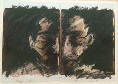 Karel Appel - Polaroid Portrait Series no.8 - 1988 — at Centre Pompidou.