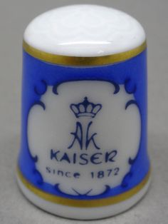 AK Kaiser-Germany. Edicion UK y USA. TCC. Thimble-Dedal-Fingerhut.