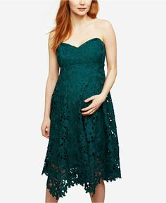 Maternity Lace strapless  dress.  #ad