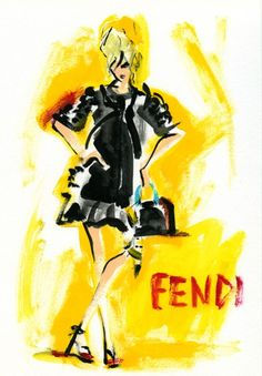 """Natasha Poly for Fendi Resort 2012 Campaign by Karl Lagerfeld"" miyuki ohashi"