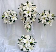 bouquets we do for the wedding party we do bride briemaids and flower girls