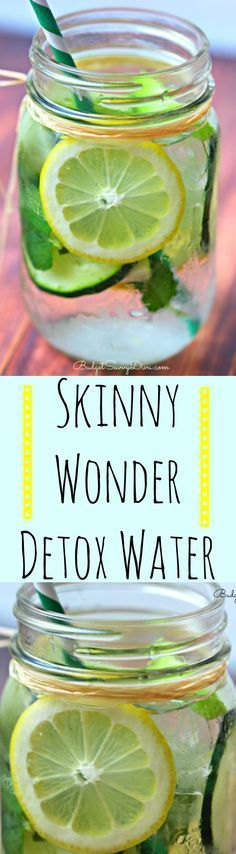 I have lost 10 pounds in about 1 month! Try this water now Skinny Wonder Detox Water Recipe